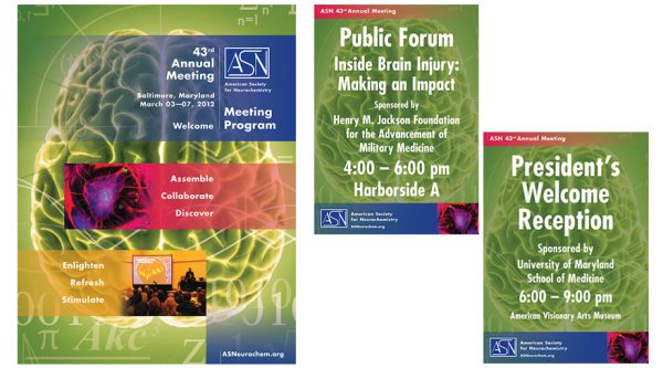 American Society for Neurochemistry – Meeting Collateral