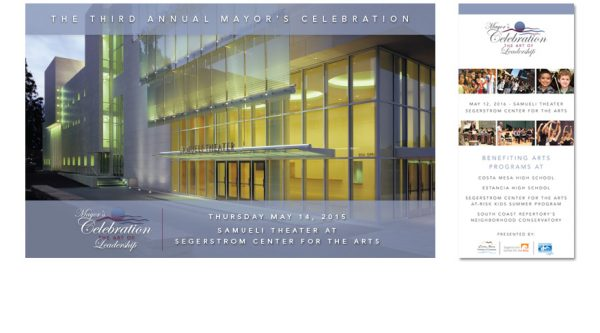 The Art of Leadership Costa Mesa – Mayor's Ball Collateral