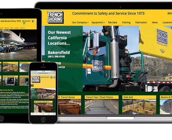 Trench Shoring Company Website