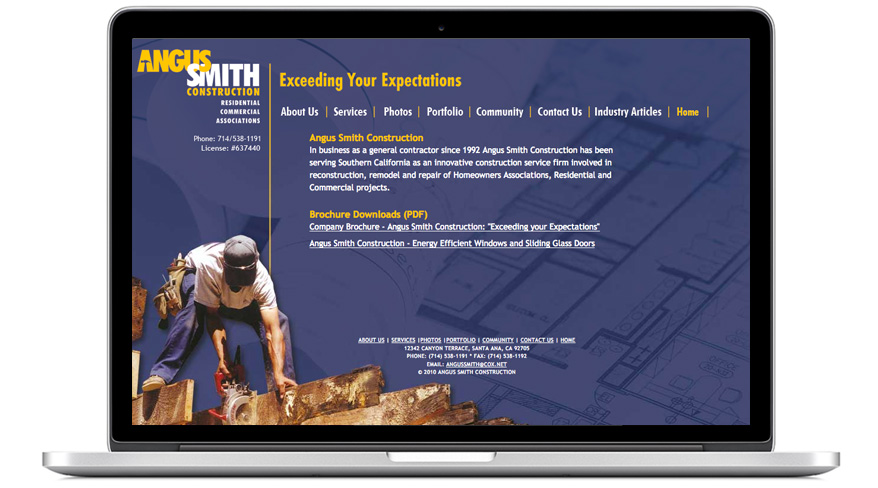 Construction Website Orange County