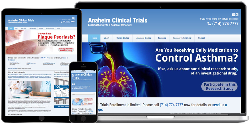 Anaheim Clinical Trials - ACT - Website